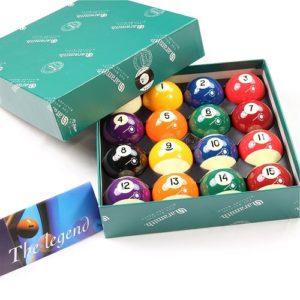 bolas de billar rayadas y lisas Aramith tamaño estandar