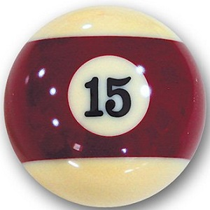 Bola de billar Número 15 marron rayada