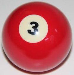 bola de billar numero 3 roja