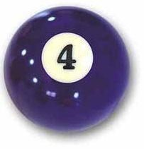 bola de billar numero 4 MORADA