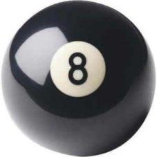 bola bolannegra de billar numero 8 negra